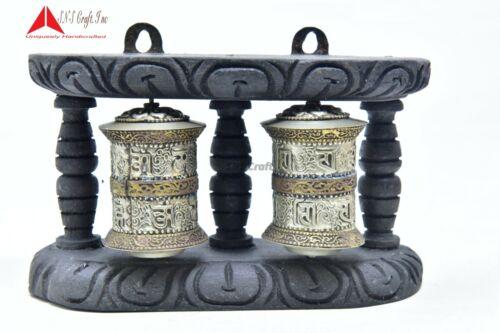 "4"" Tall Wall Hanging Authentic Buddhist Tibetan Mantra Peace symbol Prayer wheel"