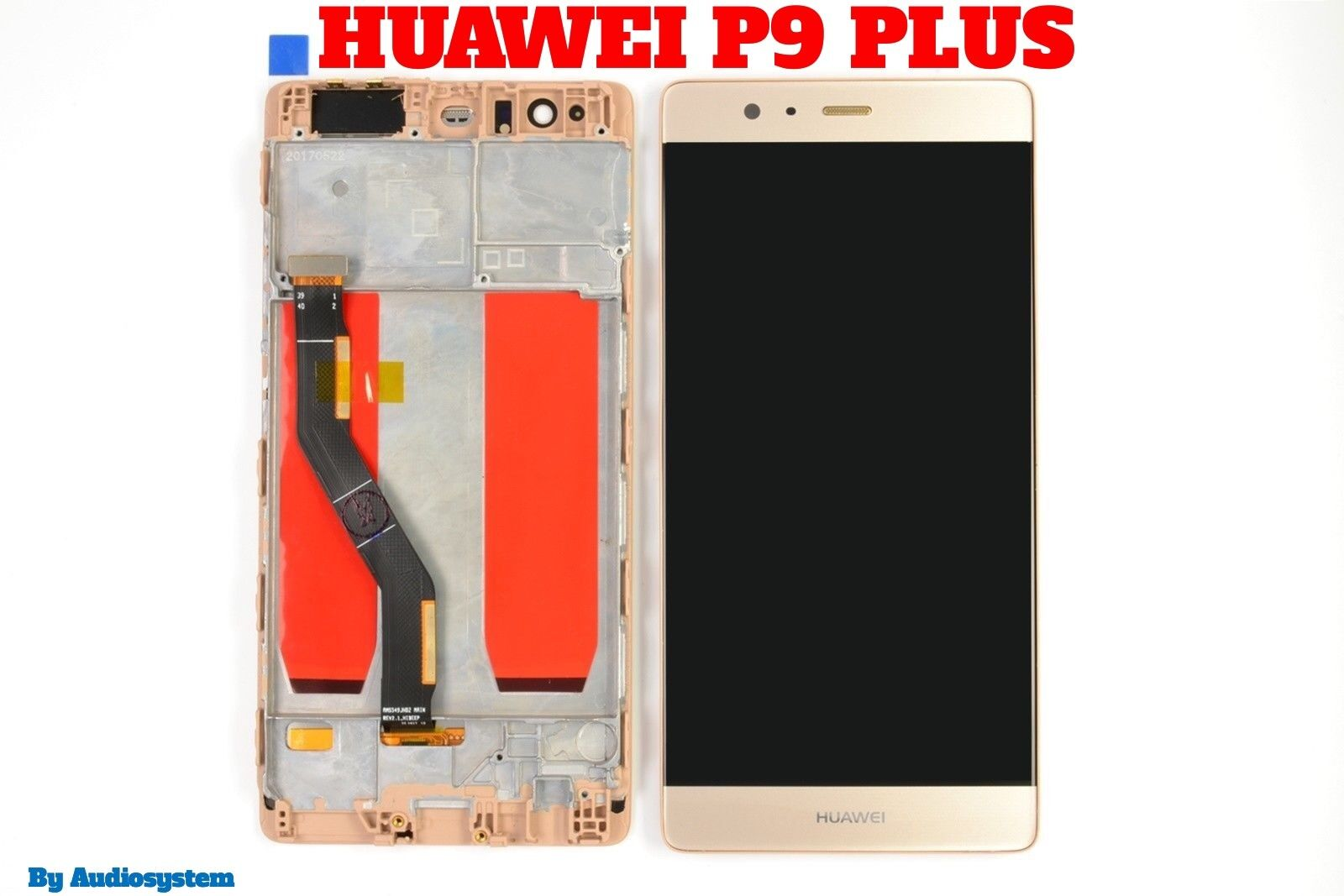 DISPLAY+ TOUCH SCREEN+FRAME COVER per HUAWEI P9 PLUS ORO GOLD CORNICE VIE-L09
