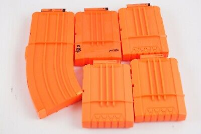 NERF 5 Clips N-Strike 1 Banana Clip 4 6 Dart Orange Magazine