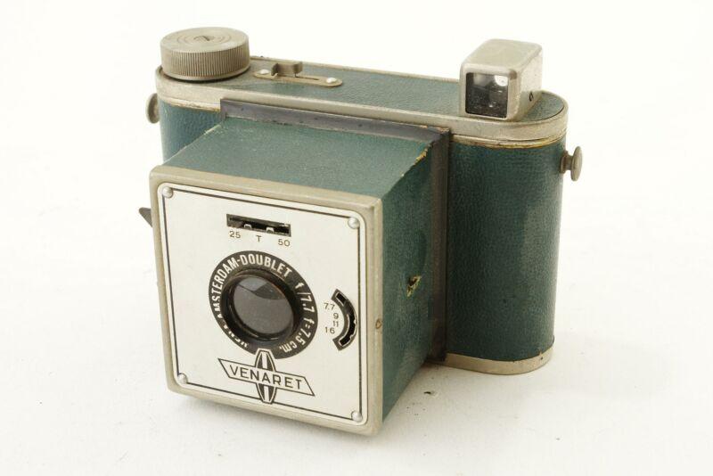 VENARET camera, made in Amsterdam. Green leather