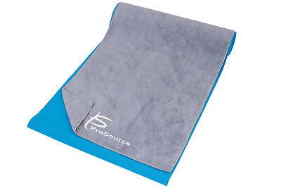 """ProSource Arida Yoga Mat Pilates Towel Absorbent Microfiber 68"""" x 24"""" Grey"""