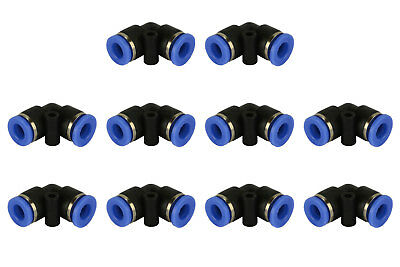 10 Piece Pneumatic Air Quick Push To Connect Fitting 14 Od L Elbow Tube 6mm