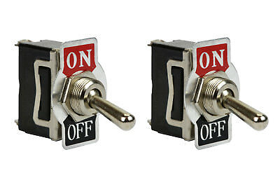 2 Pc Temco Heavy Duty 20a 125v On-off Spst 2 Terminal Toggle Switch