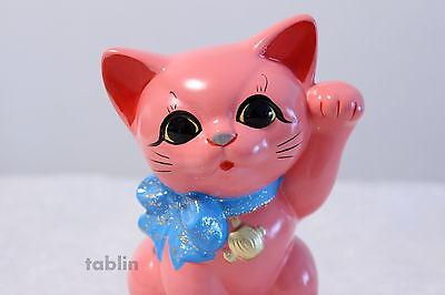 Japanese Lucky Cat Tokoname ware YT Porcelain Maneki Neko ribbon pink H15cm ()