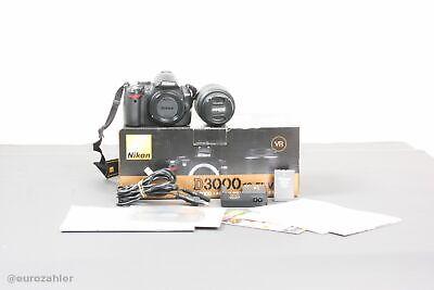 Nikon D3000 Spiegelreflex SLR Digital Kamera Kit 18-55mm 1:3.5-5.6G VR AF-S DX Nikon D 3000 Kit