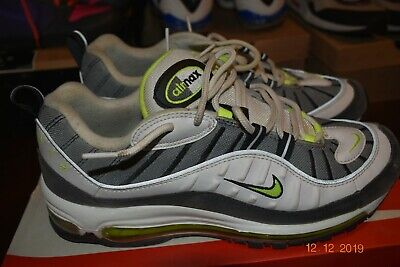 Men's Nike Air Max '98 Neon Volt 2014 Running Shoes 640744-002 Size