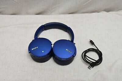 SONY MDR-XB950BT Extra Bass BLUETOOTH WIRELESS Headphones W/ CASE Blue