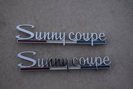 Nissan KB10 Sunny Coupe badges Datsun 1000 (NEW) Ridgehaven Tea Tree Gully Area Preview