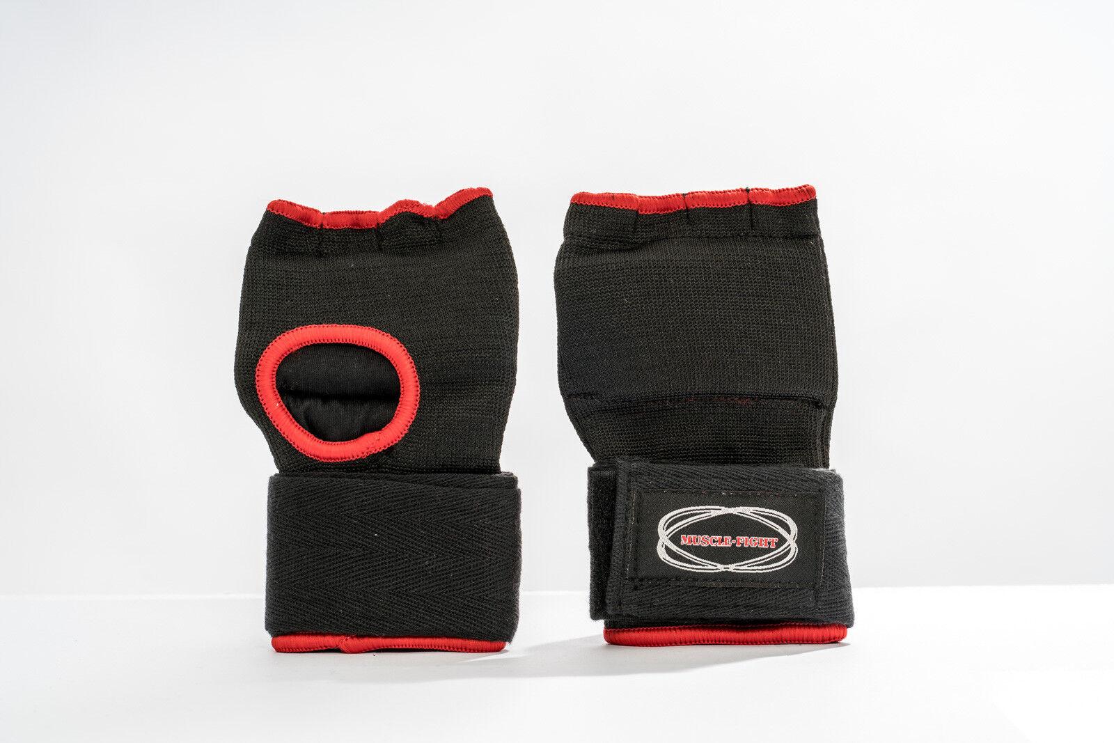 Muay Thai Gel Handschuhe mit Bandage  MMA Kickboxen Thaiboxen