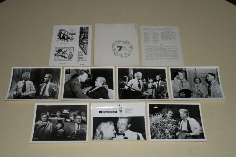 ELOPEMENT - press kit 6 photos Clifton Webb Anne Francis C Bickford 1951