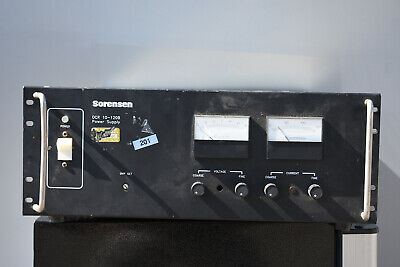 Used Sorensen Raytheon Dcr10-120b Programmable Power Supply 0-10v 120a