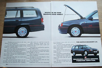 VAUXHALL ASTRA BELMONT LXi - magazine CAR ADVERT poster size 12 x 18 in