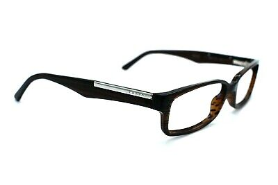 PRADA Eyeglasses Women VPR01M ZXD-1O1 Brown striped Full Rim Men 52[]15 140 #300