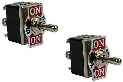 2 Pc 20a 125v Toggle Switch On-off-on Dpdt 6 Terminal Momentary 2 Side