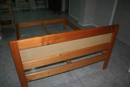 Bed Frame Solid Pine Double Greenfield Park Fairfield Area Preview