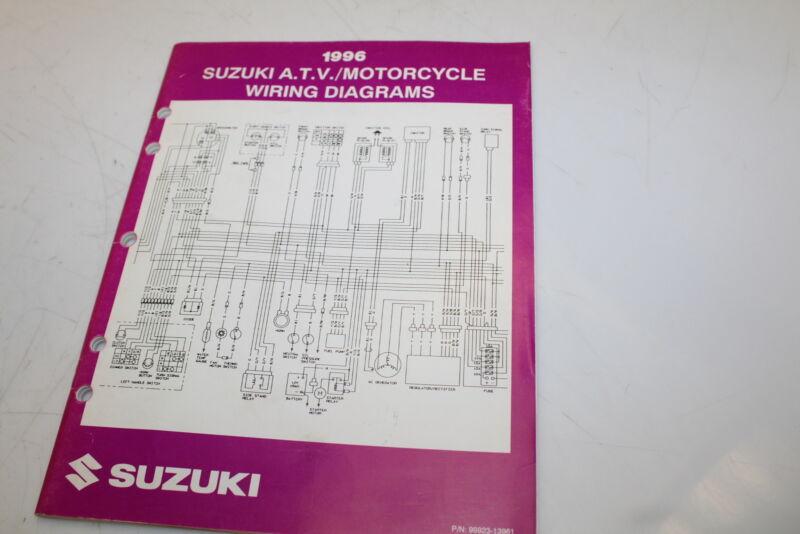 1996 Suzuki Motorcycle Atv Oem Wiring Diagrams Book Bx12