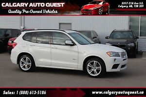 2014 BMW X3 xDrive28i AWD/NAVI/B.CAM/LEATHER/ROOF