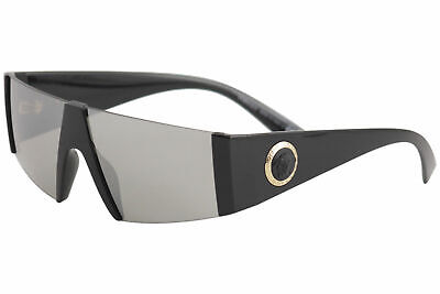 Versace Men's VE4360 VE/4360 GB1/6G Black/Gold Fashion Shield Sunglasses 36mm