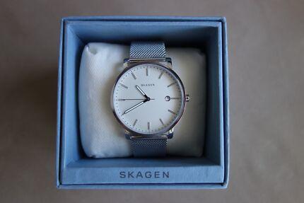 Skagen Mens Hagen Silver Steel Mesh Bracelet Watch SKW6281