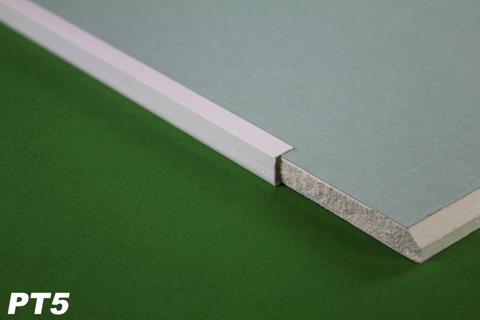 10 Meter PVC Kantenprofil für Gipskarton Platten Rigips 12,5mm Einfassprofil PT5
