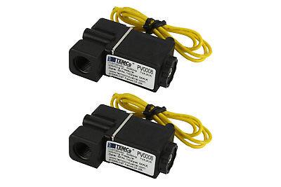 2 Lot 14 Npt Electric Plastic Solenoid Air Water Valve Nc 110v Ac Pneumatic