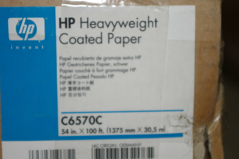 NEW HP C6570C 2 Rolls of Heavyweight Coated paper *FREE SHIPPING*