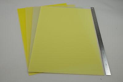 4 Stk. FR 4 GFK / Epoxy - Platte Sortiment 0,3/0,5/0,7/1 mm (300 x 200 mm)