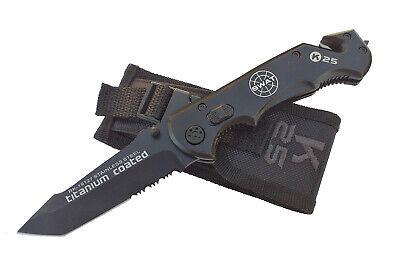 Navaja Tactica K25 SWAT Acero Inox 9 cm Titanium Knives Messer Coltello