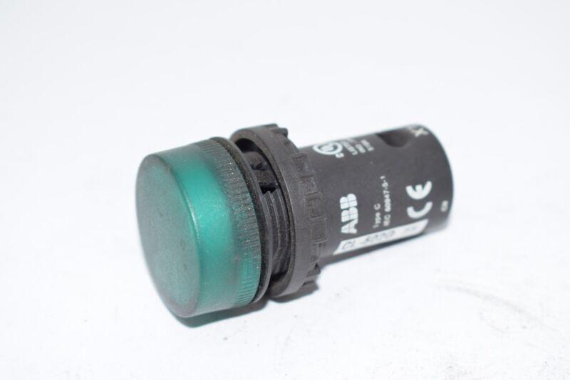 ABB CL-502G 22mm Assembled Indicator Light, Green, Compact X1