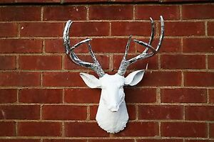 White Resin Deer Head Faux Taxidermy XL Edwardstown Marion Area Preview