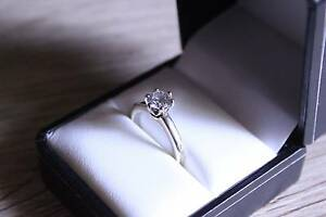 Engagement Ring - 18ct White Gold - 1.00 CARAT ROUND cut diamond Melbourne CBD Melbourne City Preview
