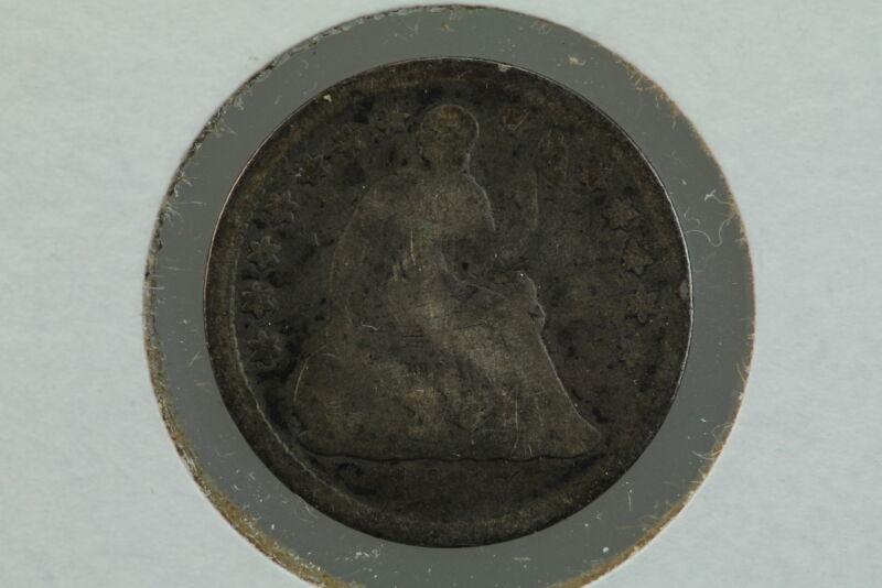 1857 Seated Liberty Half Dime 7GXC