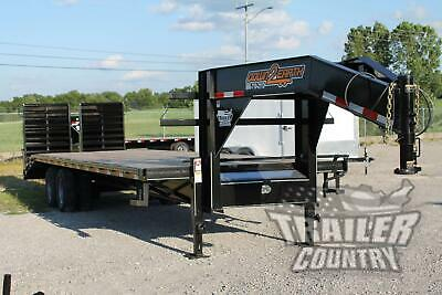 New 8 X 30 25 5 Dual Tandem 10 Ton Deckover Equipment Gooseneck Trailer