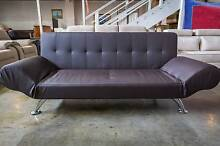 New 3 Seater Foldable Sofa Bed Chocolate WAS $600 On Clearance Roselands Canterbury Area Preview
