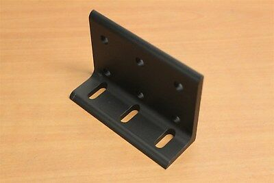 8020 Aluminum 9 Hole Wide Slotted Inside Bracket 15 Series 4281 Black C3-03