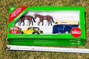 SIKU 4670 Jeep with Horse-Trailer 1:32 Scale - NEW Manly West Brisbane South East Preview