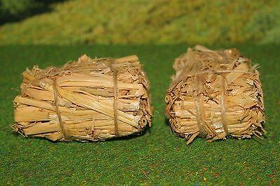 Heu Ballen Dekorationen (Heuballen Strohballen Miniatur passend für Breyer Pferd 1:9 Puppenhaus 1:12)