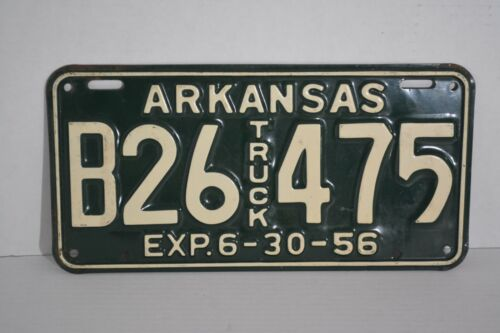 Vintage Arkansas License Plate 1956