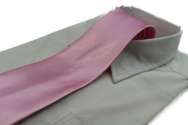 Mens Baby Pink Classic 10cm Plain Neck Tie
