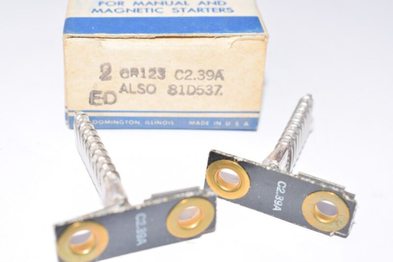 Pack Of NEW General Electric, Part: C2.39A Overload Relays
