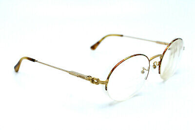 Gucci Eyeglasses Women Gold Vintage Half Rim Italy Women 52[]20 130 #1294