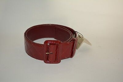 NEW BURBERRY PATENT LEATHER BELT SZ 38 / 95 MADE IN ITALY