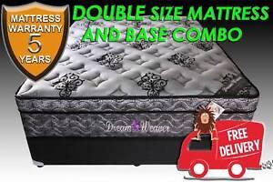 Brand New DOUBLE Bed Ensemble PLUSH Mattress   Base FREE DELIVERY