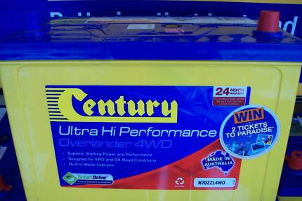 CENTURY N70ZZL 4WD OVERLANDER BATTERY 760 CCA 24 MONTH NATIONWIDE