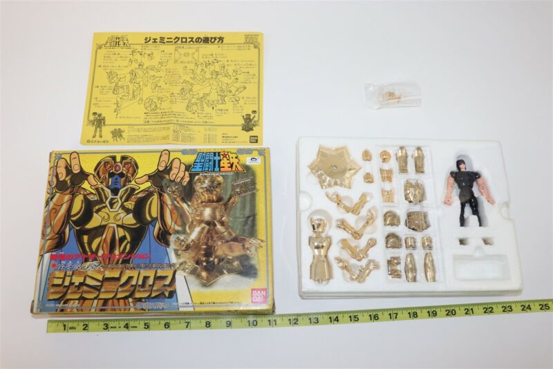 1987 Saint Seiya Gold Cloth Gemini Saga Vintage Action Figure Toy Bandai