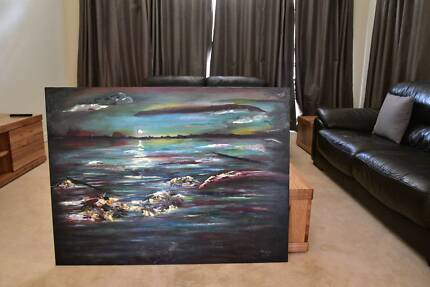 Original Painting • Acrylic & Oil • Abstract Seascape • 92x122cm