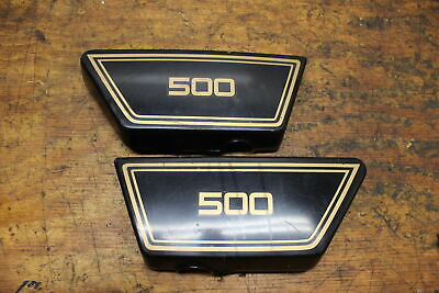 1978 YAMAHA XS500 SIDE COVER PANEL COWL FAIRING LEFT RIGHT PAIR GOOD TABS