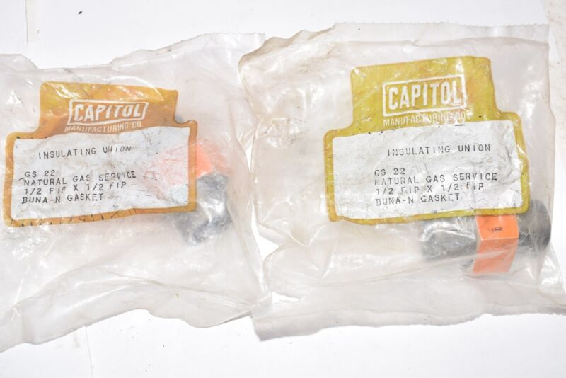 Lot of 2 NEW Capitol Manufacturing Insulating Union 1/2