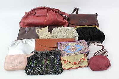 14 Vintage Ladies HANDBAGS & PURSES Inc Embroidery, Genuine Leather, Beadwork