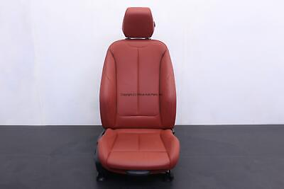 BMW 335XI 12 13 14 15 FRONT PASSENGER POWER LEATHER HEATED SPORT SEAT RED OEM